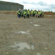 These dinosaur footprints are now buried under domestic landfill (Ardley Quarry, Oxfordshire).