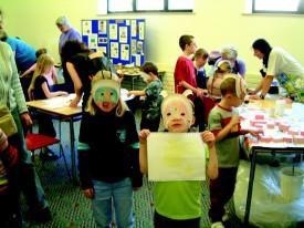 Trilobite masks.