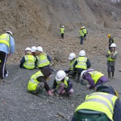 Children on a fossil hunt – Whitman's Hill Quarry, Worcestershire.
