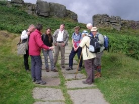 WYGT geological walk at Cow and Calf Rocks, Ilkley.