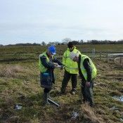 Soil survey in Wiltshire.