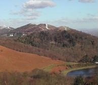 The Malvern Hills within the Abberley and Malvern Hills Geopark.