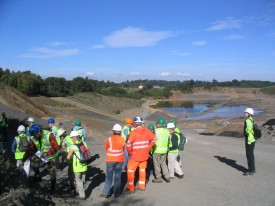 Visit to a recently closed quarry being landscaped with a geology trail.