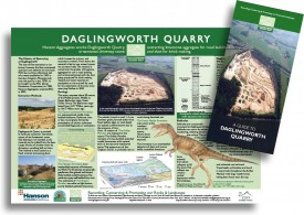 Daglingworth Quarry commissioned Gloucestershire Geology Trust to design this leaflet and display board.