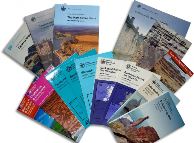 Maps & books published by the county geoconservation groups.