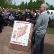"Launch of the stone ""geomap"" in the Forest of Dean."