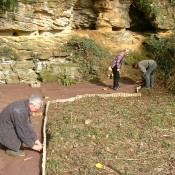 Installing an access path at Leigh Delamere, Wiltshire.