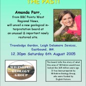 Publicity poster for an event at Leigh Delamere, Wiltshire.