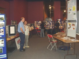 Joint county displays at the Geologist's Association conference in Cardiff.