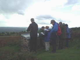 Landscape Interpretation training at Clee Hill, Shropshire.